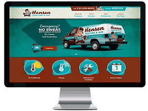 henson hvac website mock up