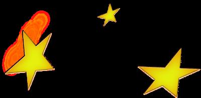 three stars unsymetrical clip art
