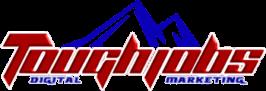toughjobs digital marketing logo transparent with D M